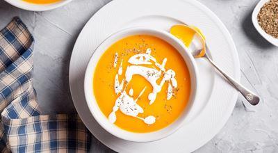 Крем супа от червена леща и сладък картоф